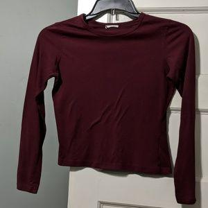 Tops - 7 for $21//Burgundy Long Sleeve T-shirt